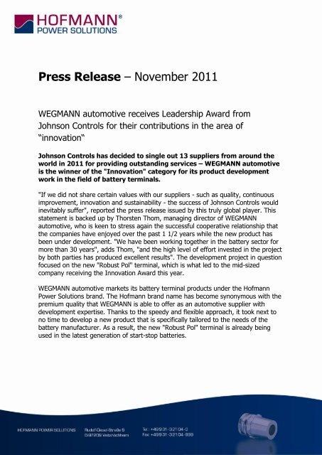 Download: Artikel (PDF) - WEGMANN automotive