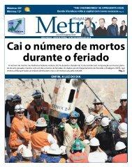 cai o número de mortos durante o feriado - Metro Magazine