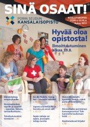 Sinä Osaat -koulutusopas syksy 2013 - Pori