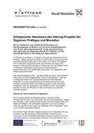 Erfolgreicher Abschluss des Interreg-Projekts der ... - Pro Prättigau
