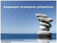 Kaupungin strateginen johtaminen - Pori