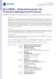 Die CMDB – Datendrehscheibe für IT Service Management-Prozesse