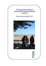 Perusopetuksen opetussuunnitelma luvut 2-5 - Pori