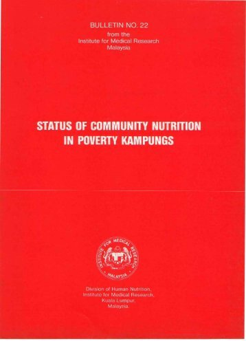 Status of Community Nutrition of Poverty Kampungs. - Home