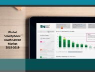 Global Smartphone Touch Screen Market Key Trends 2015-2019