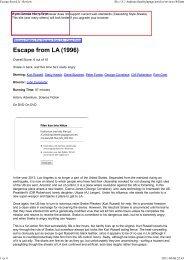 Movie Gazette - The Escape From New York & LA Page - A Tribute ...