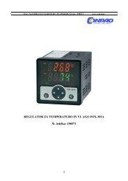 REGULATOR ZA TEMPERATURO IN VL AGO FOX-301A Åt. izdelka: 198571 ...