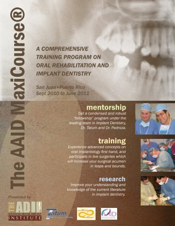 mentorship training - Tatum Surgical Inc.
