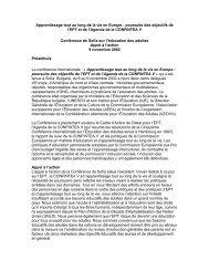 Apprentissage tout au long de la vie en Europe : poursuite ... - ICAE