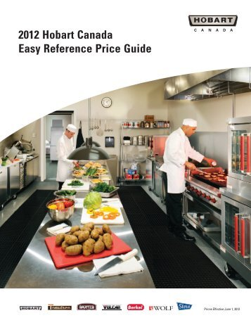 2012 Hobart Canada Easy Reference Price Guide