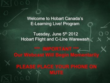 Welcome to Hobart Canada's