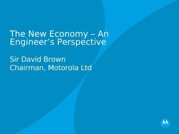 The New Economy – An Engineer's Perspective - WWW2006