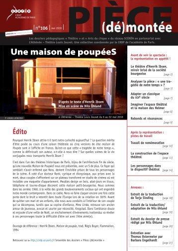 106 - (CRDP) de l - Académie de Paris