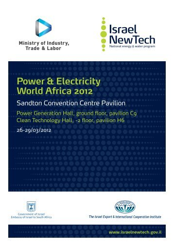 Power & Electricity World Africa 2012 - Israeli-South African Trade ...