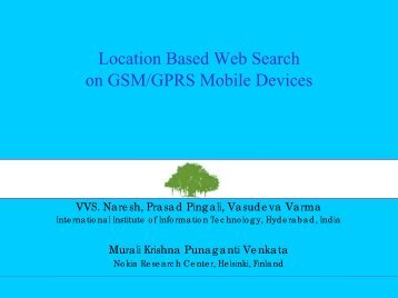 Location Based Web Search on GSM/GPRS Mobile ... - WWW2006
