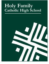 Handbook (pdf) - Holy Family Catholic High School