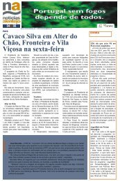Cavaco Silva em Alter do Chão, Fronteira e Vila Viçosa na sexta-feira