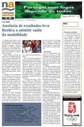 Ausência de resultados leva Benfica a admitir saída da modalidade