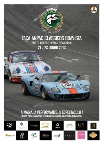 boletim da Taça ANPAC Clássicos Boavista