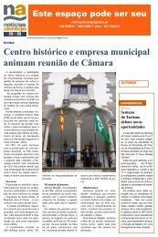 Centro histórico e empresa municipal animam reunião de Câmara