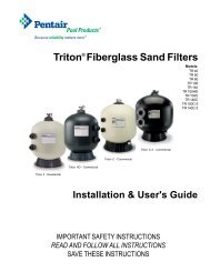 Triton® Fiberglass Sand Filters - Patio Pools & Spas
