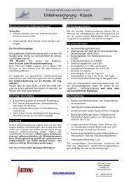 Produktinfo - aktivas - Unfallversicherung - 2005-03-29