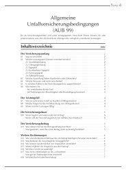 Allgemeine Unfallversicherungsbedingungen (AUB 99)