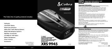 XRS 9945 - Best Radar Detector