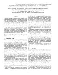 Object Recognition Supported by User Interaction ... - Osaka University