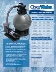The ClearWater Sand System - Waterway Plastics
