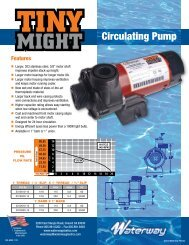 Circulating Pump - Waterway Plastics