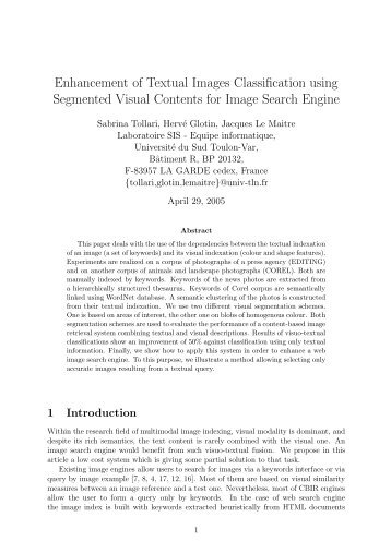 Enhancement of Textual Images Classification using ... - CiteSeer