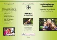 Der Kinderschutzbund Der Kinderschutzbund betreut Familien ...