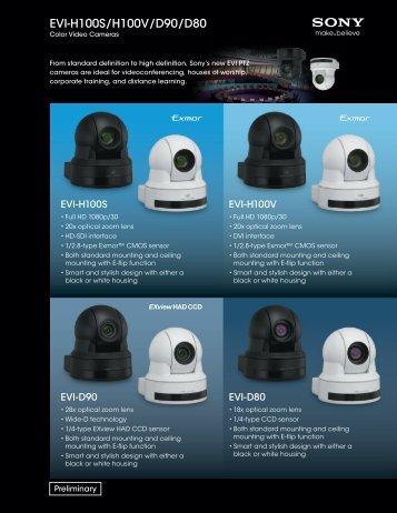 EVI-H100S/H100V/D90/D80 - Sony