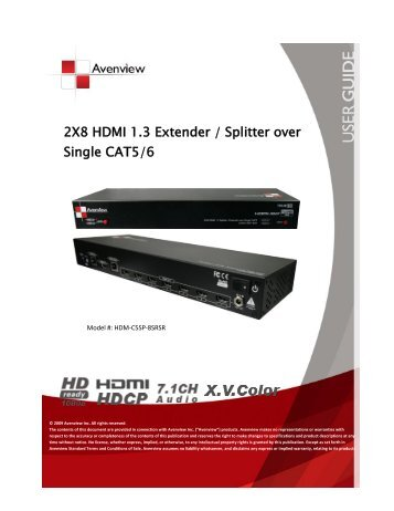 2x4 hdmi 13 extender splitter over single cat5 avenview 2x8 hdmi 13 extender splitter over single cat56 avenview sciox Images