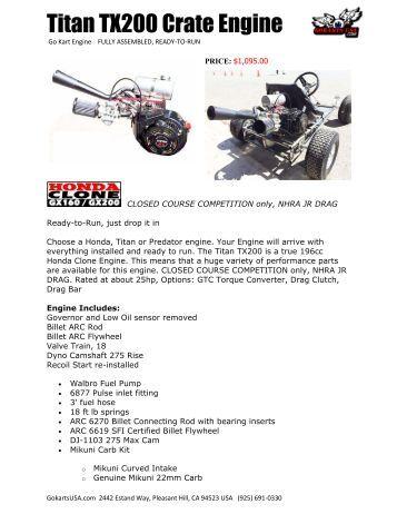 Titan TX200 Crate Engine
