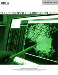 Focused Libraries Catalogue - Otava Chemicals