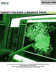 Focused Libraries Catalogue - Otava Chemicals