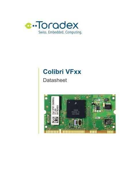 Colibri Vf61 Datasheet - Toradex