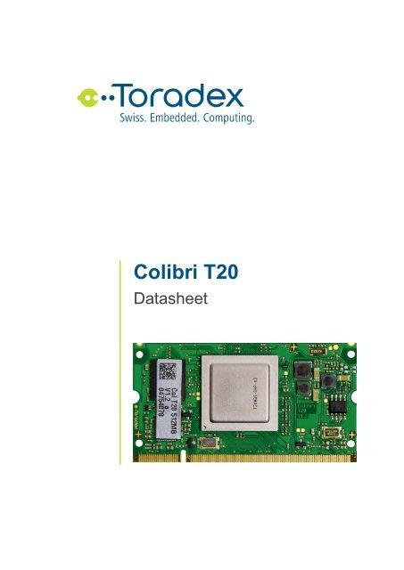 Colibri T20 Datasheet - Toradex