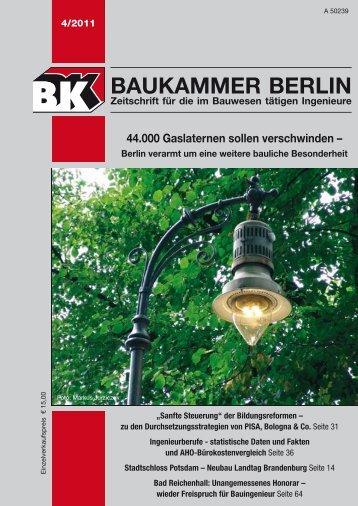 BK-Heft 4/2011 - Baukammer Berlin