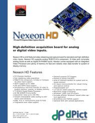 Nexeon HD Spec Sheet - I-cube Image Analysis and Processing