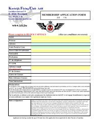 membership application form - Kortrijk Flying Club
