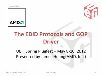 The EDID Protocols and COP Driver - UEFI