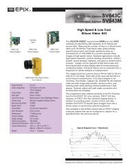 High Speed & Low Cost Silicon Video® 643 - I-cube Image Analysis ...