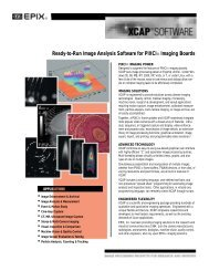 Ready-to-Run Image Analysis Software for PIXCI® Imaging Boards