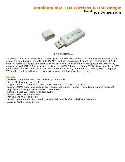 AMBICOM WL250N-USB DRIVERS DOWNLOAD