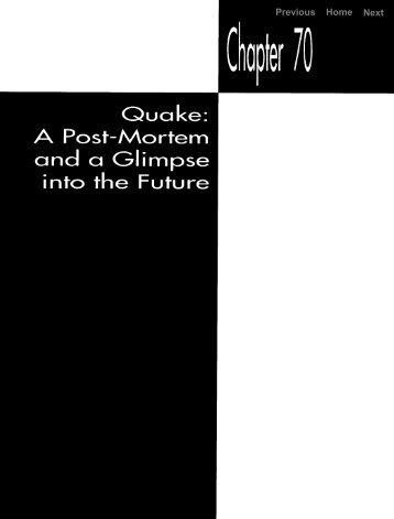 quake: a post-mortem and a glimpse into the future
