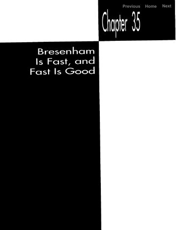 bresenham is fast , and fast is good