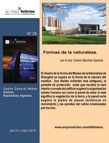 Formas de la naturaleza por el arq. Carlos Sánchez Saravia